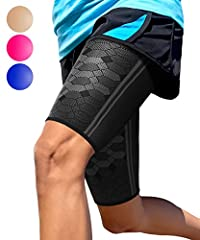 ✅ PAIN RELIEF AND FAST RECOVERY - Recommended by trainers and doctors, Sparthos thigh sleeves will provide relief from injuries around the thigh, hamstrings, quadriceps, and groin areas. Get through your day without pain and discomfort. ✅ INCREASE YO...