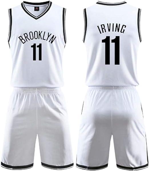 LDFN Maillot de Basket Kyrie Irving # 11 Basketball Masculin Uniforme Respirant Brod/é Sport Manches T-Shirt S-XXL