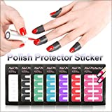 10 x Nail Protector Tapes Skin Cover Nagelhautschutz Sticker in Lila SO-154
