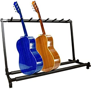 YMC Guitar Folding Stand Rack Band Stage Bass Acoustic Guitar 7 Holder