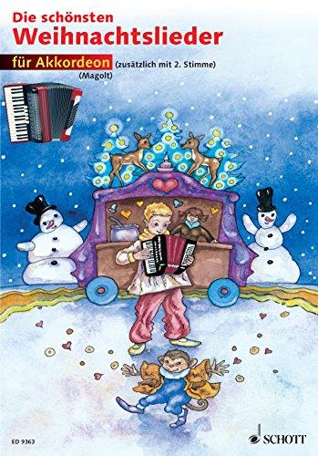 Die schönsten Weihnachtslieder: 1-2 Akkordeons