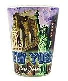 New York Color Photo Landmarks Shot Glass CTM