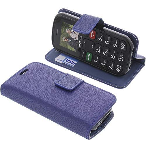 foto-kontor Tasche für Artfone GSM Book Style blau Schutz Hülle Buch