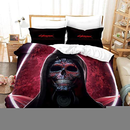 bed linings Juego de Cama 3D Cyberpunk Impresión De Navidad Adulto de