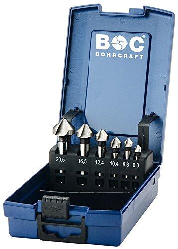 BOHRCRAFT 17001330006 Kegelsenker Set HSS-G in ABS-Box KS6-K 6-teilig, 6 Stück Durchmesser 6,3-20,5 mm