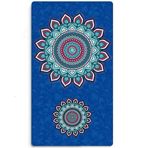 YUANDAKEJI Large Width Yoga Mat Natural Suede Non-Slip Bottom Fitness Gymnastics Dance Mat Pilates and Carpet Mat,183cmx100cmx8mm