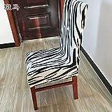 T-CYYT 2 Stück Stretch-Stuhl-Set im europäischen Stil von Stuhlkissen Hotelrestaurant-Stuhlset,...