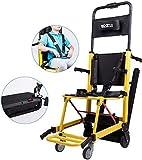HY-WWK Silla de Ruedas, Tipo de Oruga de Silla de Ruedas Eléctrica Fácil de Plegar, Adecuado Para: Ancianos, Discapacitados (Amarillo. 200W)