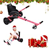 Hoverkart, Kart Ajustable para Scooters eléctricos de autoequilibrio, Asientos de Hoverboard, Karts compatibles con Todos los Scooters-6.5 / 8.5 / 10 Pulgadas, Regalos para niños y Adultos(Rosa)