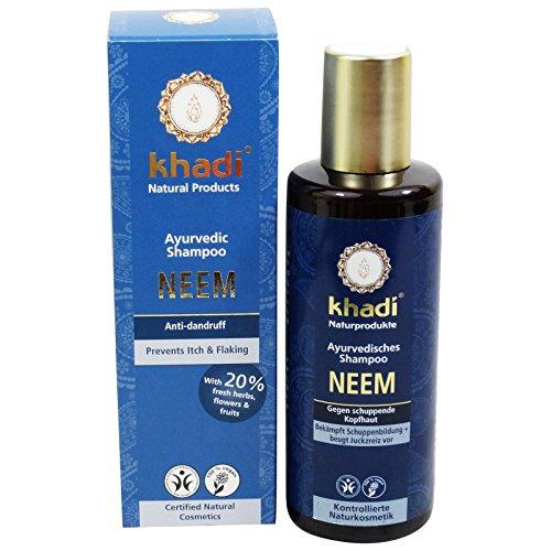 Khadi Shampooing Neem anti-pelliculaire et antibactérien, pour cheveux gras