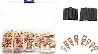 VICASKY 140Pcs Kit de Bateria Terminais Conectores De Fios Terminais Do Fio Automotivo Elétrico E Tubulação Do Psiquiatra ...