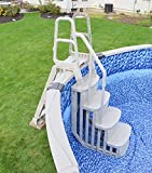 Main Access 48-54 Inch Heavy-Duty Adjustable Above Ground Swimming Pool Smart Step and Ladder Entry...