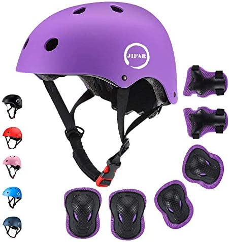 JIFAR Adjustable Helmet for Youth Kids Toddler Boys Girls Protective Gear with Elbow Knee Wrist product image
