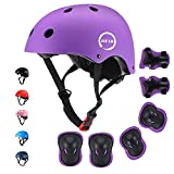 JIFAR Adjustable Helmet for Youth Kids Toddler Boys Girls,Protective Gear with Elbow Knee Wrist Pads for Multi-Sports...