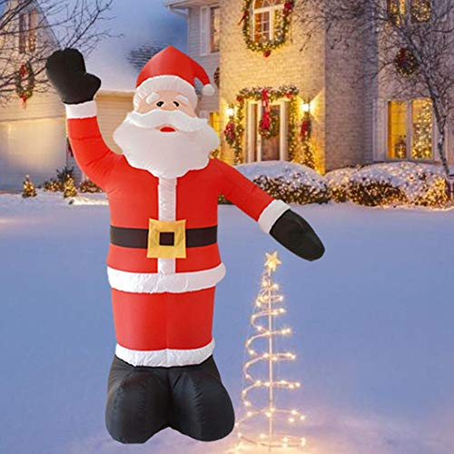 Ecisi Huge 8 Ft Christmas Inflatables Santa Claus Decorations,Blow up Indoor Outdoor Christmas & X'mas Yard Inflatables with LED Christmas Lights