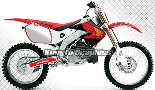 Kungfu Graphics Custom Decal Kit for Honda CR125 CR250 1997 1998 1999, Red White, Style 001