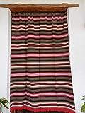 Cortina Alpujarreña Rustica,(160 x 215 cm), Marrón Rojos Amarillos Color 604 Hecha en España, Fibra Natural de algodón - Cortina para Puerta Exterior mosquitera y Parasol