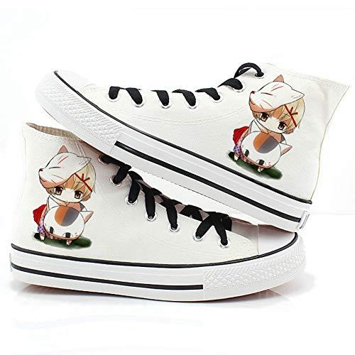 Csqw Cuenta de Amigos de Natsume High Gang Zapatillas de Lona para Zapatillas de Deporte Unisex para niños y Adolescentes Zapatillas de cosplay-38