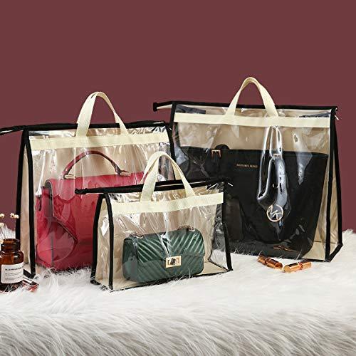 CINPIUK 4 Pack Handbag Dust Bags Purse Storage Organizer for Closet, Zipper Hanging Storage Bag for Handbags