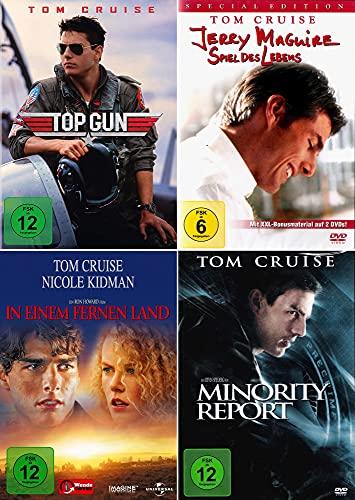 Tom Cruise 4-Filme Collection: Top Gun + In einem fernen Land + Minority Report + Jerry Maguire: Spiel des Lebens [4er DVD-Set]