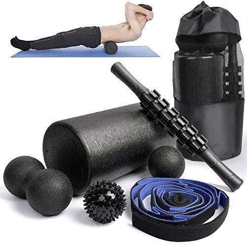 Find Bargain 6 in1 Foam Roller Set -High Density Roller Foam,Muscle Roller Stick,2 Plantar Fasciitis...