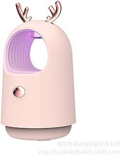 Hgjhy Lámpara antimosquitos pequeño Repelente de Mosquitos fotocatalizador inhalado LED Mudo Trampa de Mosquitos física Dormitorio en casa-Rosa