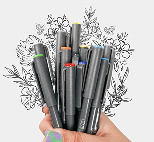 Ginza Nano - Brush Pen, KIT com 30 un com Porta Caneta Brinde - NEWPEN