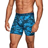 Under Armour Charged Cotton 6' Novelty Boxerjock - 3 Pack, Petrol Blue//Academy, Small