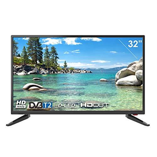 Televisor Smart Tech by BSL de 32 Pulgadas DBVT2 | HD Ready LED de 1366x768p | Conexión scart, HDMI ARC, HDMIx2, VGA, COAXIAL, AV IN, Ypbr