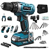 ORFELD Cordless Drill Driver Combo Kit 165PCS, 20V Li-ion Battery, Japanese Motor,19+1 Clutch, 2-Speed Settings, Built-in LED, Specialized Package and Bag, Excellent Craftmanship
