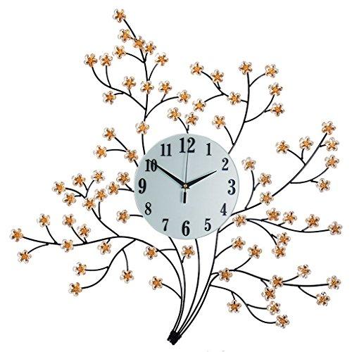 Reloj de pared silencioso Reloj de pared minimalista moderno de la sala de estar del vidrio de alta definición, arte de la manera reloj de pared solo montado en la habitación del comedor, taladro de d