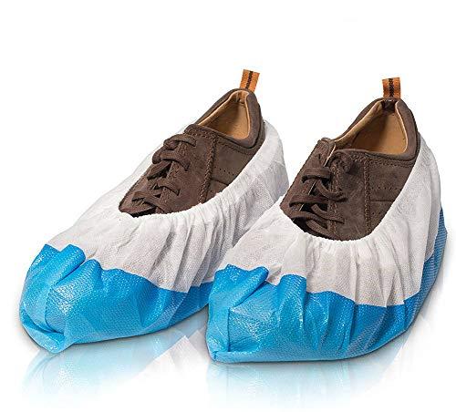 ZALA Schuhüberzieher | 50 Stück Überschuhe extrem reißfest wasserfest und rutschfest | Überzieher für Schuhe zur Erhaltung & Sauberkeit der Schuhe