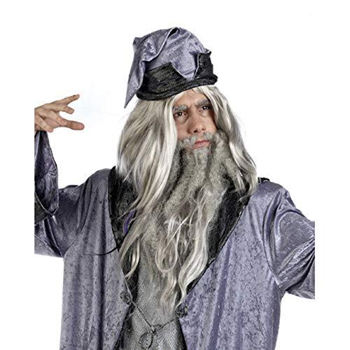 Unbekannt Merlin, Perruque de déguisement-Sorcier
