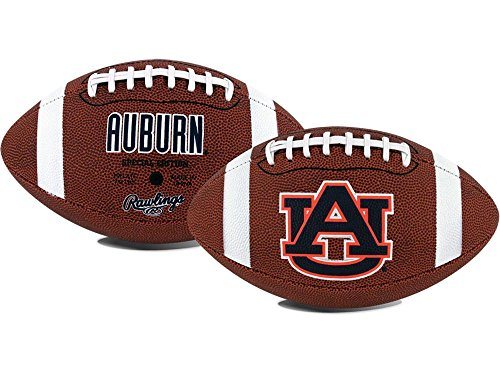 NCAA Game Time Full Size Football , Auburn Tigers, Brown, Full Size