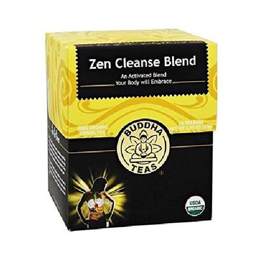 Organic Zen Cleanse Blend Tea - Kosher, Caffeine-Free, GMO-Free - 18 Bleach-Free Tea Bags