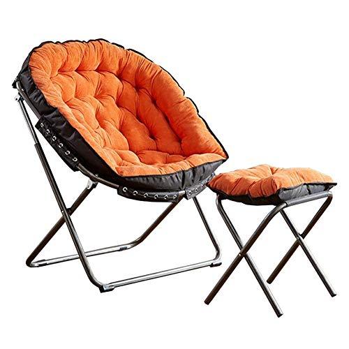 DALL Opvouwbare Luie Bank Stoel Comfy Gestoffeerde Vrije tijd Tafelstoel Zonnebank Ligstoelen Ligstoelen Slaapkamer Tuinmeubelen