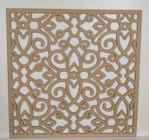 LaserKris PO262-2 Heizkörper-Wand-Dekorativer Sichtgitter, perforierte MDF-Platte (600 x 600 mm)