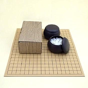 囲碁セット ゴム盤の碁盤(日本棋院取扱)とP碁笥・碁石普及セット