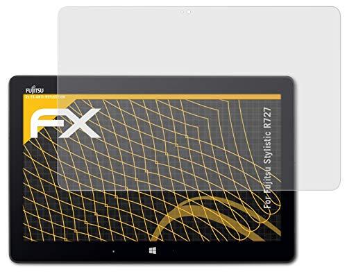 atFolix Panzerfolie kompatibel mit Fujitsu Stylistic R727 Schutzfolie, entspiegelnde & stoßdämpfende FX Folie (2X)