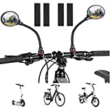Bike Mirror Round Bicycle Rearview mirror 360° Adjustable Handlebar Mount Universal for Mountain Road bike Electric Scooter E-bike Bicycle Accessories(2 Pcs)
