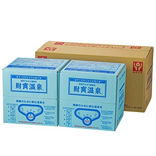 『財宝 天然アルカリ温泉水 財寶温泉 22L (11L×2箱) ミネラルウォーター バッグインボックス』のトップ画像