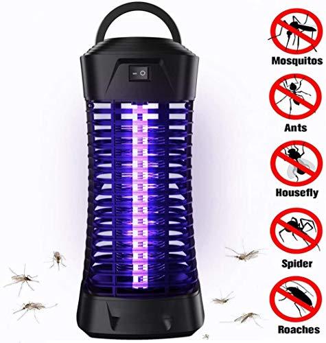 Mdcgok Lampada elettrica Repellente per zanzare 6W UV Mosquito Killer Repellente Anti-Insetti Efficace Catcher Bug Scope 35m² Non tossico per Interni