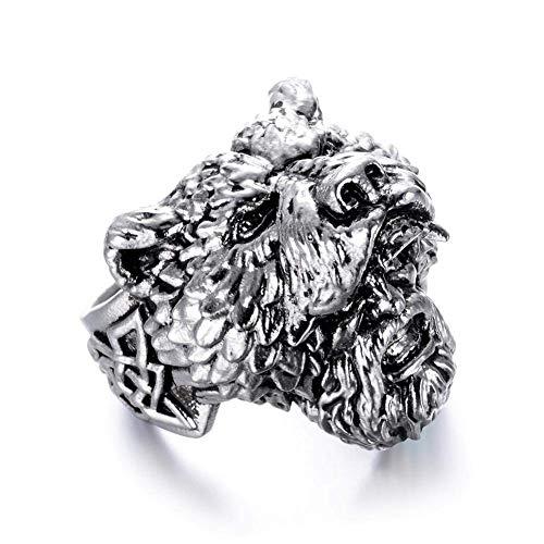 PULABO Anello da uomo in acciaio inox a forma di orso, stile punk, gioielli comodi e rispettosi dell'ambiente.