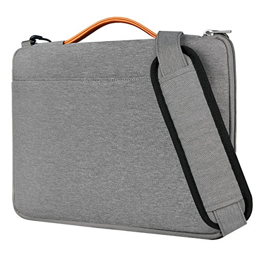 Inateck 14 Pollici Borsa a Tracolla per Laptop di 14-14,1'', MacBook Pro 15'' 2018/2017/2016, e Surface Laptop 3 da 15 Pollici, Messenger Bag - Grigio