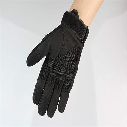 GXY Gants antidérapants en Plein air, Gants de Doigts, Plusieurs Couleurs Gant (Couleur   noir, Taille   XL)