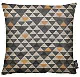 APELT Mix 49x49 87 Kissenhülle, Polyester, taupe / kupfer, 49 x 49 cm