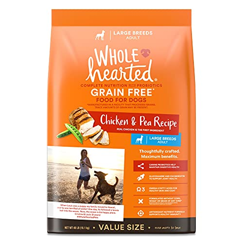 Petco Brand - WholeHearted Grain Free Large Breed Chicken and Pea Recipe Adult Dry Dog Food, 40 lbs.