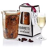 Panettone Italien artisanal au Muscat d'Asti doux et fraises des bois cuit en bocal de verre avec levain 280gr - pot WECK original - 3 stade de la pâte - Giovetti Alta Pasticceria – Bonbons artisanaux
