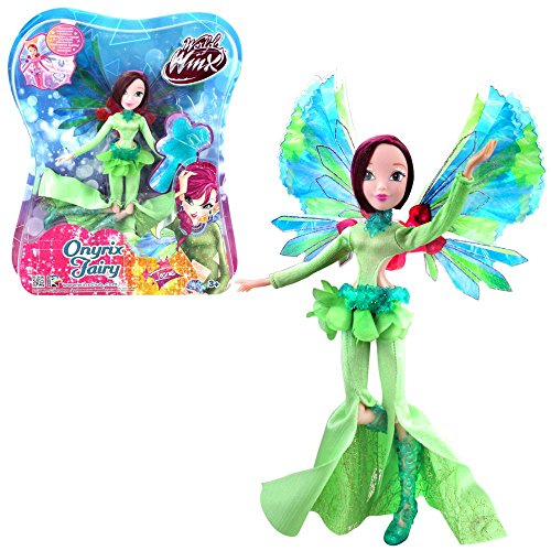 Winx Club Tecna | Onyrix Fairy Muñeca World of Winx | Traje Mágico | 28 cm
