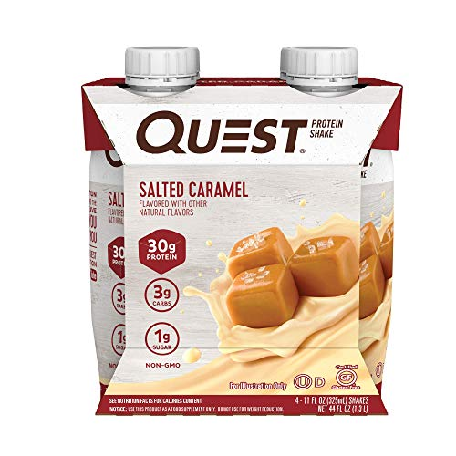 Quest Nutrition Ready to Drink Salted Caramel Protein Shake High Protein Low Carb Gluten Free Keto Friendly 11 Fl Oz Pack of 12